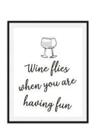 Wine flies tekstposter