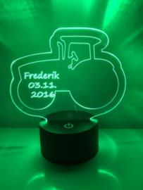 LED Lamp Tractor met Naam + Datum