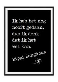 Pippi Langkous Poster - Zwarte achtergrond