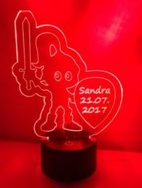 LED Lamp Ridder met Naam + Datum
