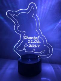 LED Lamp Eenhorn met Naam + Datum
