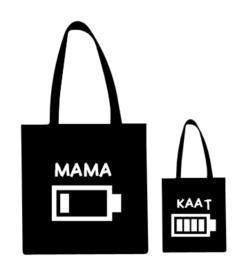 Set moeder en dochter tas met naam
