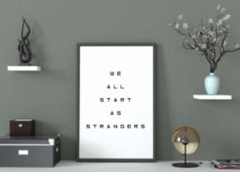 We All Start - Poster