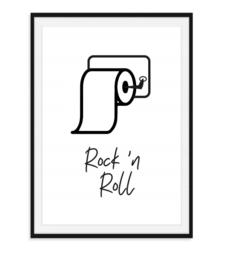 Rock 'n Roll - Toiletposter