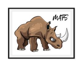 Rhino de neushoorn met naam