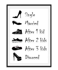 Single Married Divorced - Schoenen poster