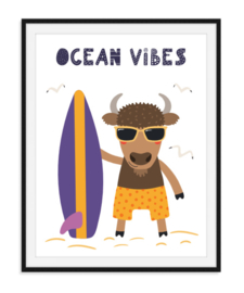 Ocean vibes - Zomerse poster