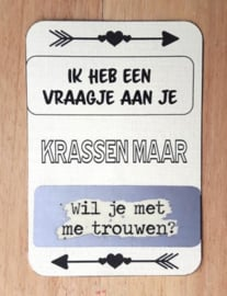 Kraskaart pijlen met eigen tekst