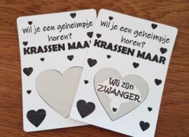 Kraskaart trouwen onthulling