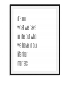 It's not what we have in life - Poster