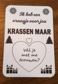 Kraskaart Kerst - Klassiek
