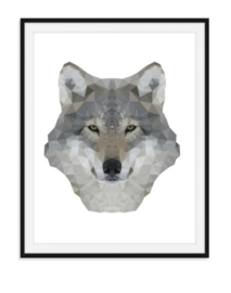 Wolf in speciaal effect - dierenposter