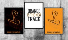 Circuit Zandvoort - Orange is the new Track - Minimalistisch