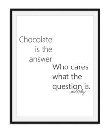 Chocolate is the answer - Poster