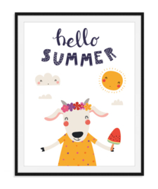 Hello summer - Zomerse poster