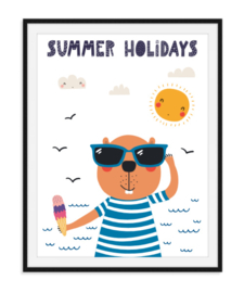 Summer holidays - Zomerse poster