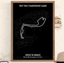 Circuit de Monaco Winner - Minimalistisch