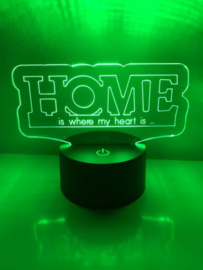LED Lamp HOME met Eigen Tekst