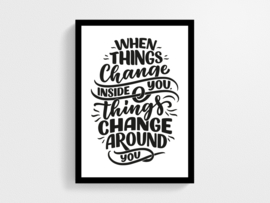 When things change - Poster