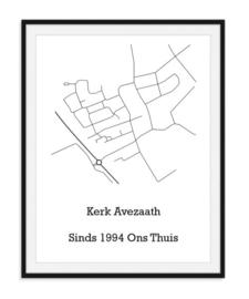Plattegrond Kerk Avezaath - Lijntekening