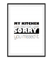My kitchen was clean - Poster