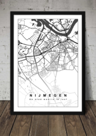 Plattegrond Nijmegen - Lijntekening doorlopend