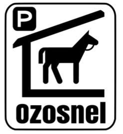Ozosnel parkeerplaats Raamsticker