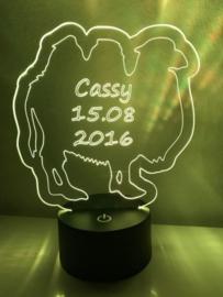 LED Lamp Kameel met Naam + Datum