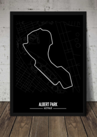 Albert Park Circuit Melbourne - Minimalistisch