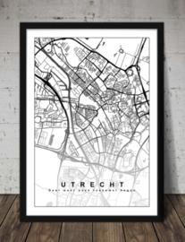 Plattegrond Utrecht - Lijntekening doorlopend