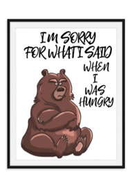 Sorry Hungry poster