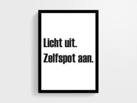 Licht uit zelfspot aan - Poster