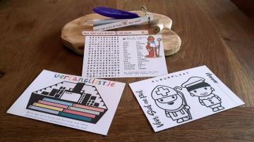 Sinterklaas Schoencadeau - Flessenpost + 2 kaarten