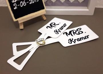 Kofferlabels huwelijksreis met namen - Set van 2