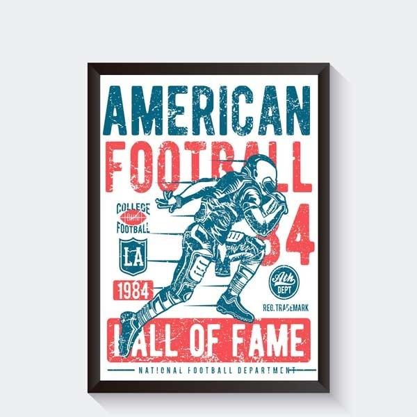 American Football vintage poster