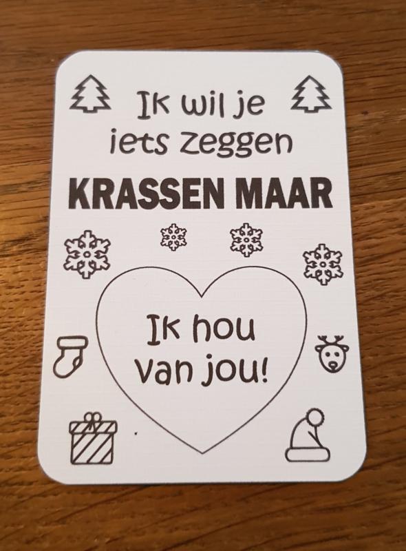 Kraskaart Kerst - Hip
