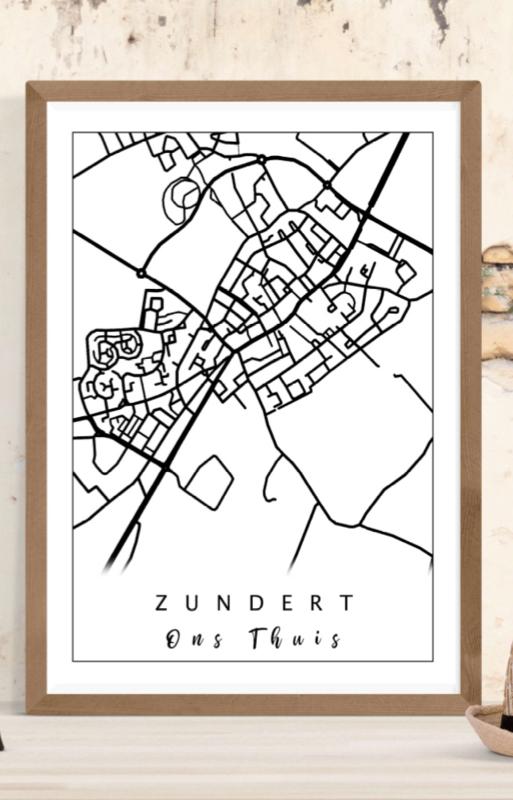 Plattegrond Stad / dorp - Lijntekening