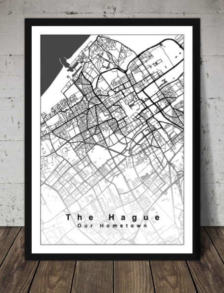 Plattegrond Den Haag - Lijntekening doorlopend
