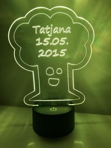 LED Lamp Boom met Naam + Datum
