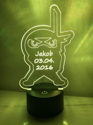LED Lamp Ninja met Naam + Datum