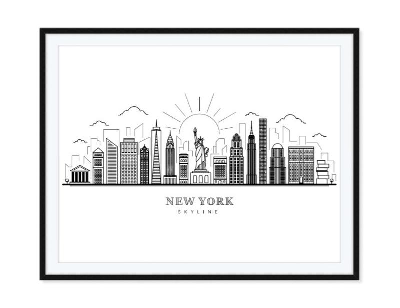 New York Skyline poster