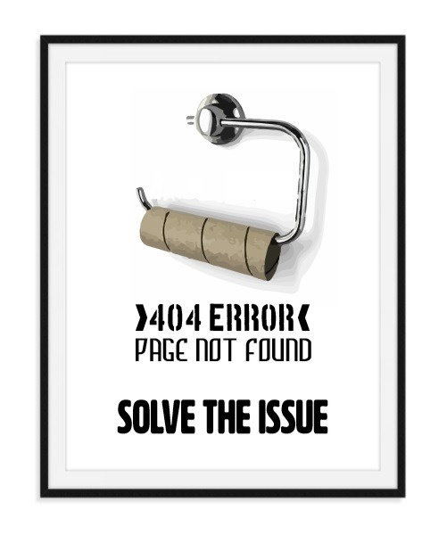 Page not found - Toiletposter