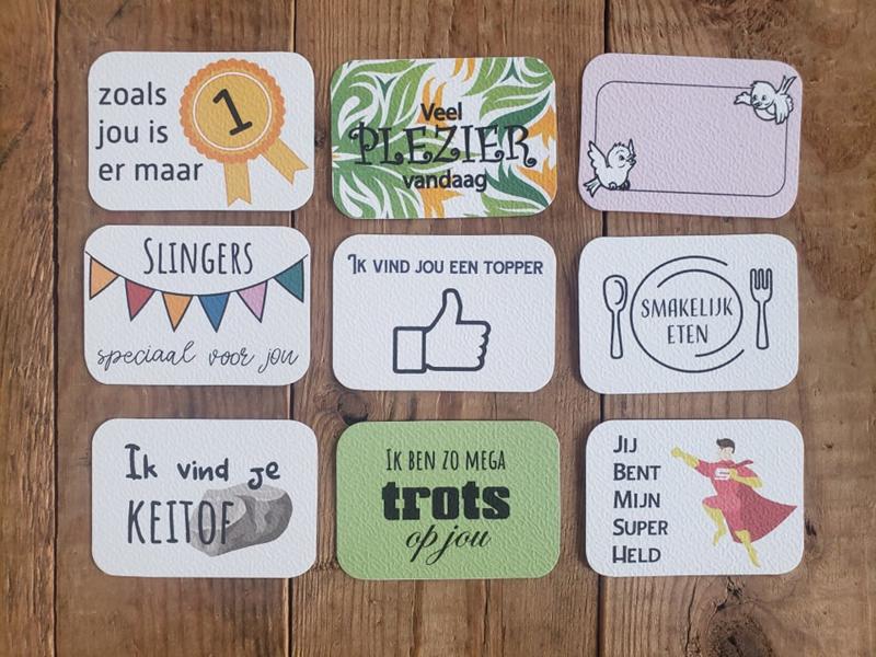 Set van 24 Complimentenkaartjes Kleur - Versie 5