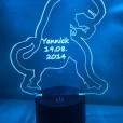 LED Lamp Dinosaurus met Naam + Datum
