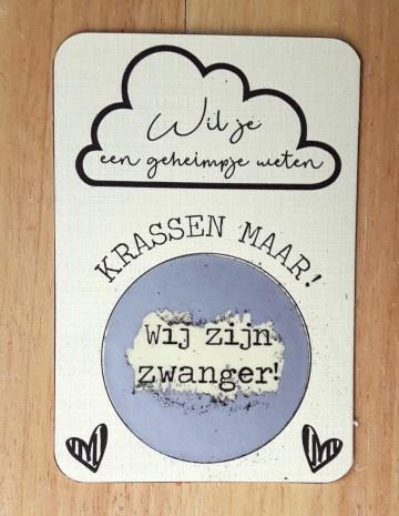 Kraskaart wolk met eigen tekst