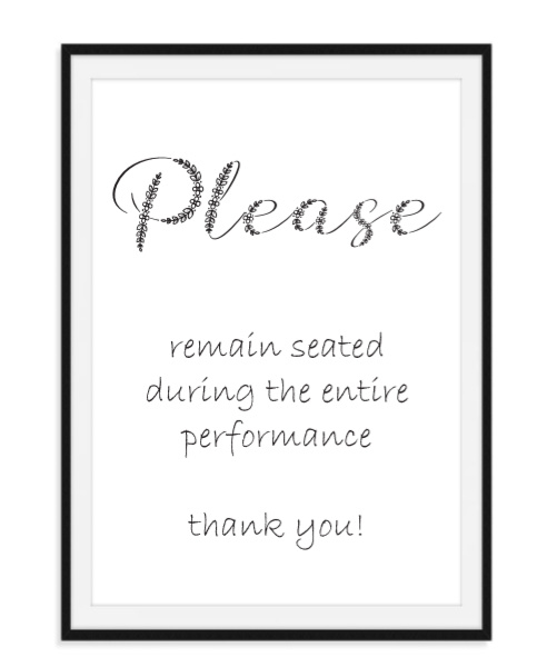 Please remain seated - WC poster