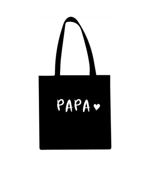 Katoenen draagtas met papa