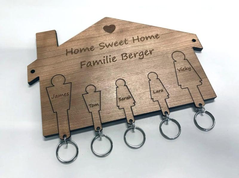 Sleutelrek home sweet home 5 personen.