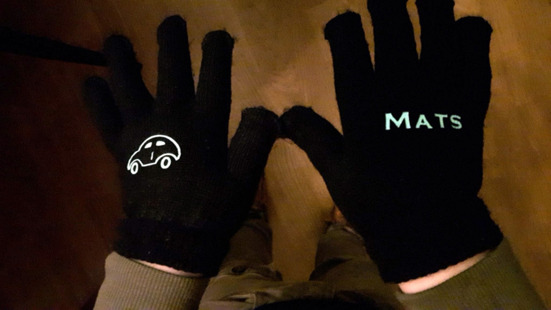 Handschoenen met eigen naam