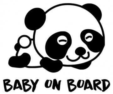 Autoruitsticker Panda baby on board